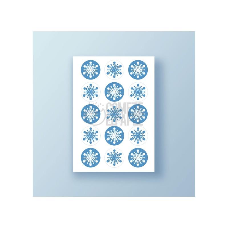 Papel de azúcar galletas Copos de Nieve 1