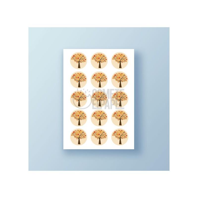 Papel de azúcar galletas árboles