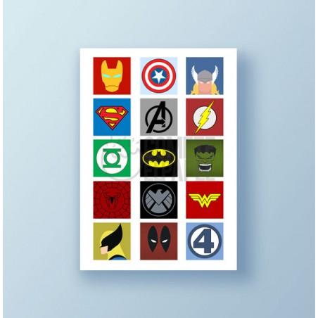 Papel de azúcar galletas Superheroes