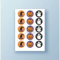 Papel de azúcar galletas Halloween 1
