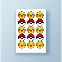 Papel de azúcar galletas Pokemon