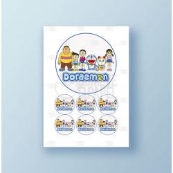 Papel de azúcar tarta Doraemon