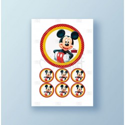 Papel de azúcar tarta Mickey Mouse
