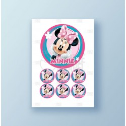 Papel de azúcar tarta Minnie Mouse