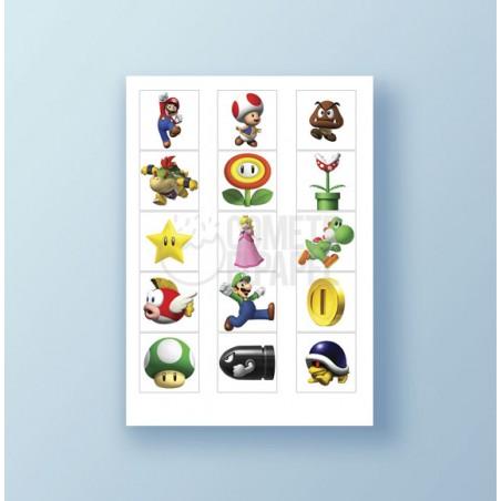 Papel de azúcar galletas Super Mario