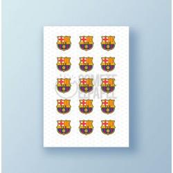 Papel de azúcar galletas FC Barcelona