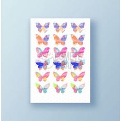 Papel de azúcar galletas Mariposas