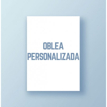 Oblea personalizada