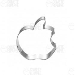 Cortador metálico manzana mordida