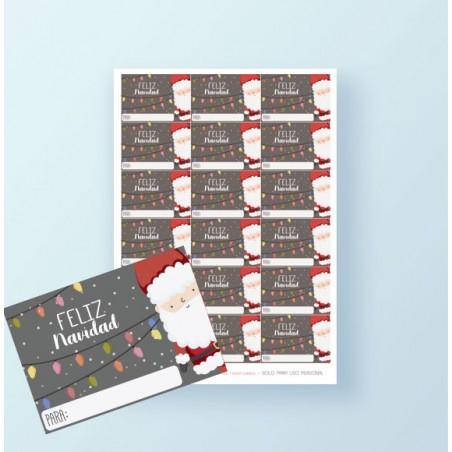 Etiquetas regalos de Navidad GRATIS 2