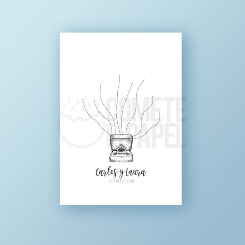 Árbol de Huellas imprimible anillo