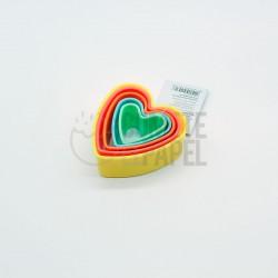 Set cortadores corazones
