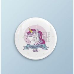 Pack 15 chapas para comuniones unicornio