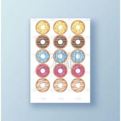 Papel de azúcar galletas Cumpleaños Donuts