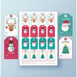Etiquetas regalos Navidad 3