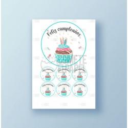 Papel de azúcar tarta Cumpleaños 4